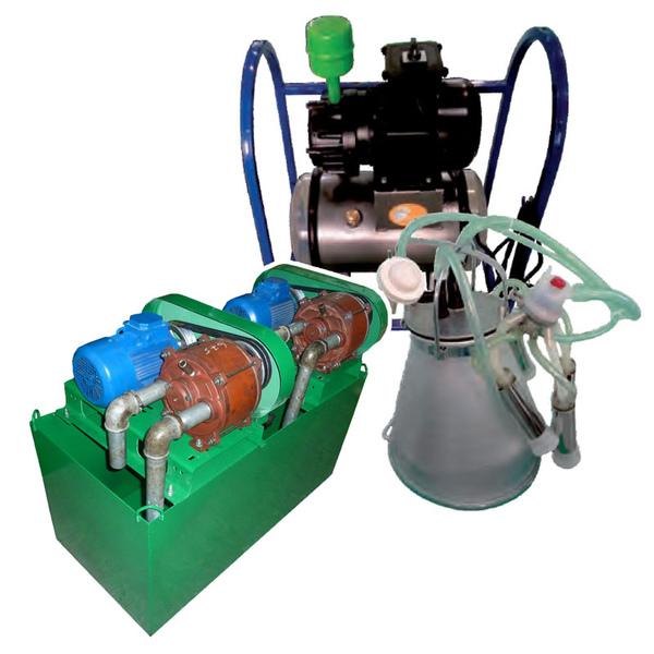 Вакуумный насос дойка коров маслянный